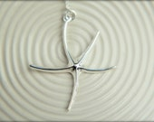 Giant Starfish Necklace, Available in Sterling Silver and Vermeil and Gold-filled