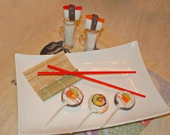 SUSHI CAKE POPS, Japanese Themed Party, Cake Pops