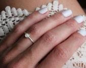 Opal ring, Sterling silver ring, stacking ring, rope ring, midi ring, stackable ring