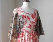 Mixed Print Maxi Dress by Miss Elaine
