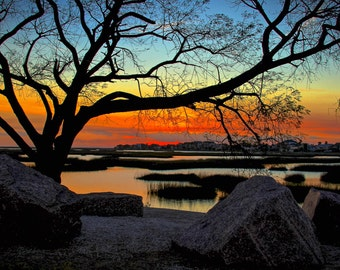 Magical Dusk, fine art photo signed by me, matted