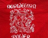Vintage NORWEGIAN POWER 80s T Shirt