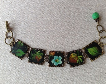 "Tin Jewelry Bracelet ""Moorish Garden"" Tin for the Ten Year Tenth Wedding Anniversary"