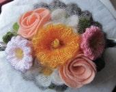 Flower Power Hand Knit Tea Cosy