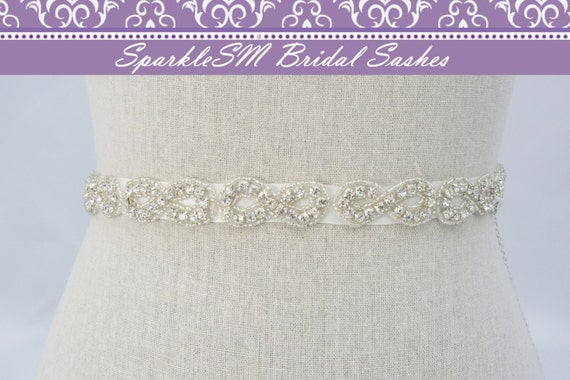 Rhinestone Crystal Belt Sash, Wedding Sash Belt, Bridal Accessories, Crystal Belt Sash Bridal Sash Belt, SparkleSM Bridal Sashes, Montana