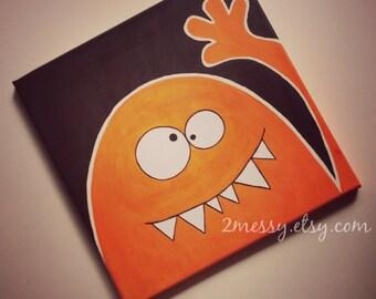 Orange Monster Art