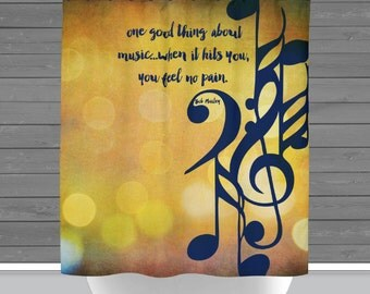 Shower Curtain And More   Music One Good Thing Lyrics Bob Marley | See  Dropdown For