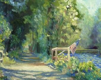 Trails Across America Original Landscape Oil Painting