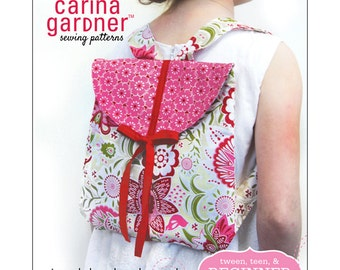 PAPER PATTERN - Toodaloo Back Pack Pattern From Carina Gardner