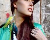 Feather Single Earring, Boho Earrings, Hippie Earrings, Hipster Earrings, Gift For Her