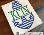 Split Anchor Design Shirt - You Customize