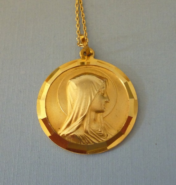items similar to large antique gold plated