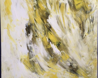 extra large wall art canvas yellow large canvas painting wide impasto painting large canvas wall art large artwork acrylic abstract painting