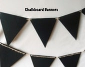 Chalkboard Banners  Pennants Chalkboard Sign Triangle Flag Pennant Banner Decoration 12 Pennants / 11 Feet in length