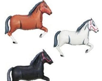"""Horse Balloon Large 43"""" (1 balloon)  Pick your Color / White Horse, Brown Horse, Black Horse Cowboy Party Cowgirl Party Western Party"""