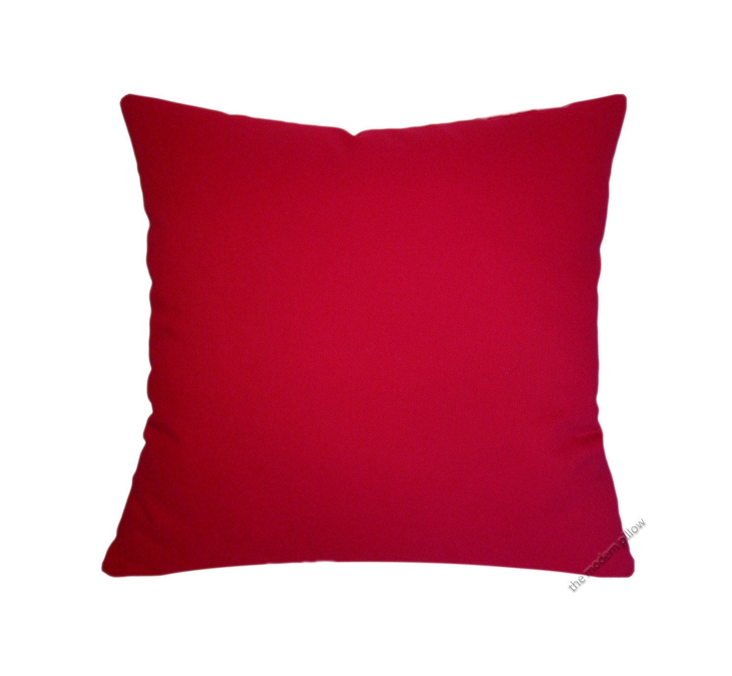 Red Solid Decorative Throw Pillow Cover / Pillow Case