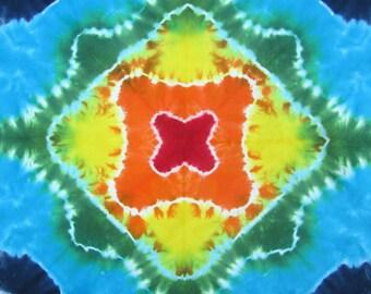 Hippy Bandana Scarf with Rainbow Colors