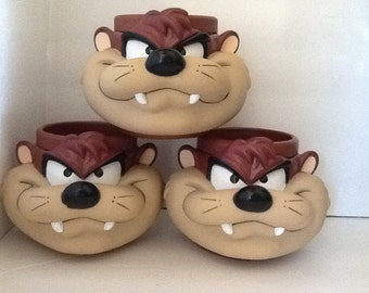 Cups,Children's,Cartoon Character TAZ Mugs,Looney Tunes! Vintage Children's Mugs