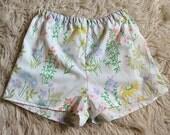 Vintage fabric cotton floral shorts