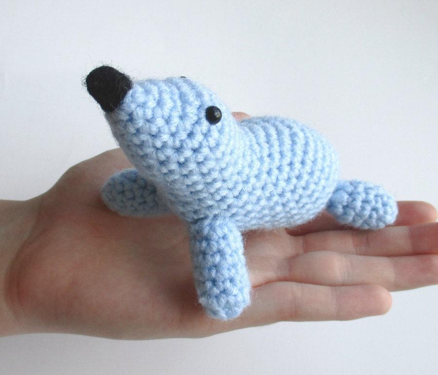 Crochet Amigurumi Seal : Amigurumi seal stuffed seal crochet seal baby shower gift