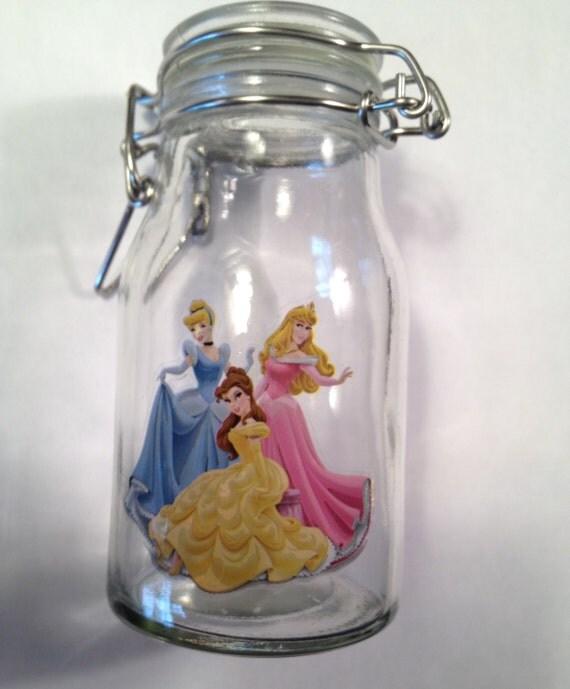 Items similar to disney princess gift jar
