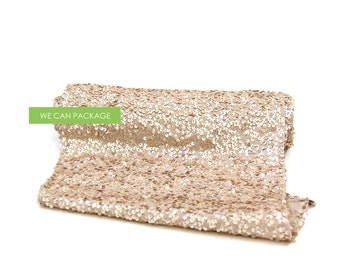 """CHAMPAGNE Sequin Table Runner 12"""" x 96"""""""