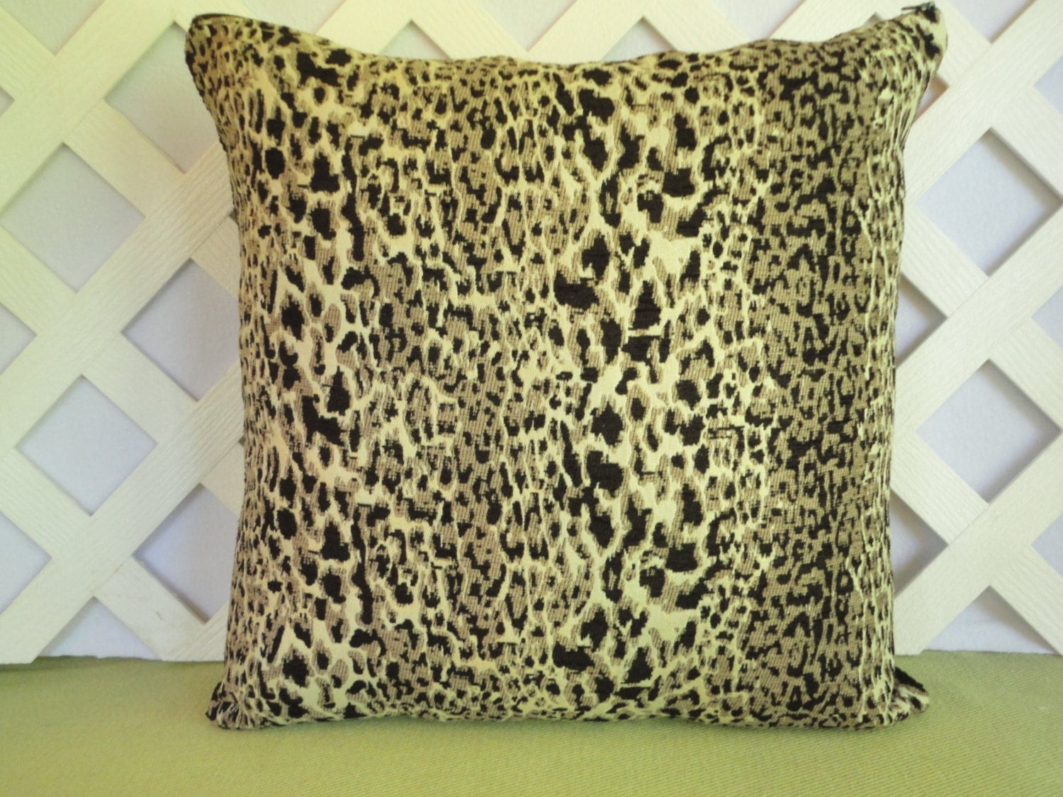 Animal Pillow Prints : Leopard Print Pillow Cover/ Animal Print Pillow Cover/ Tan