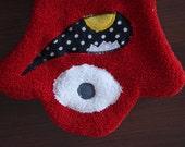 Red Wash Mitt - Monster Bath Puppet - Baby Washcloth