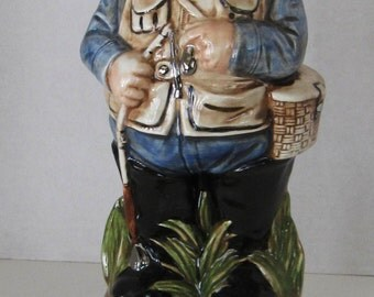 Alberta Vintage Fisherman Liquor Decanter Christmas Special !!!