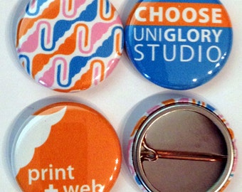 1500 1 inch Full color Custom pin back Buttons. We can make ANY size quantity in 3 different sizes.