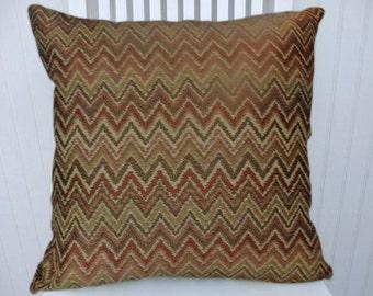 Sand Decorative Pillow Cover-- Zig Zag, Chevron 18x18 or 20x20 or 22x22 Throw Pillow Cover- Lumbar Pillow Cover Lumbar Pillow Cover