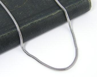 Men's Chain Necklace 3mm Stainless Steel Snake Jewelry for Him 18 20 22 24 Inch Men's Steel Necklace Chain |ST2-01