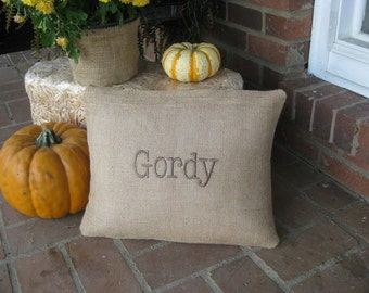 Embroidered Pillow or for address, family, special dates, you name it