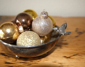 Vintage Silver Plated Trinket Bowl with Bird, Vintage Silver Plated Catch All with Bird from The Eclectic interior