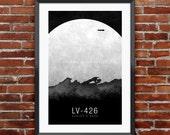 "Aliens Inspired Print 11X17"""