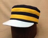 Custom made vintage style box cap for Dirk. Please read description below to ensure accuracy.