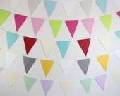 Birthday Decorations- pick your own colors- custom pennant banner, birthday parties, baby showers, weddings