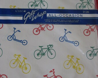 Vintage Bicycle Wrapping Paper