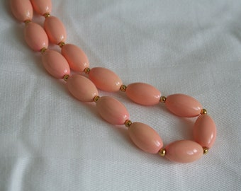 Peachy Pastel Beaded Necklace