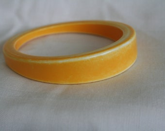 Yellow Bangle Bracelet asymmetric