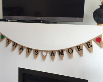 That's Amore Banner, Italian Bridal Shower, Italian Theme, Bunting, Garland