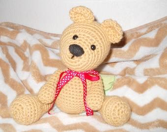 Custom Crocheted Teddy Bear, teddy bear, custom bear, custom teddy bear, crocheted bear, stuffed animal, kids toy