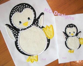 Polar Penguin Machine Applique Embroidery Design - Penguin Applique - Applique Design - Polar Penguin Applique - Applique Penguin