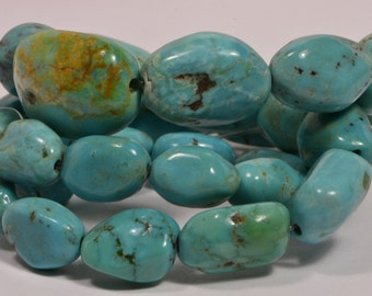 Nevada Turquoise Progressive Strand Beads Nuggets Turquoise Beads natural Gemstone Beads Jewelry Making Supplies