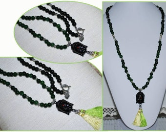 Buddha Head Pendant Necklace, Mens Necklace, Men's Necklace, Jade Necklace, Gemstone Necklace, Malay Jade Necklace, Unisex Necklace