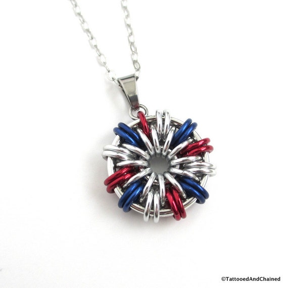 usa patriotic jewelry white and blue by tattooedandchained
