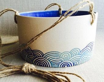"Custom order for Tara: 4 handmade ceramic hanging planters 6""x6"""