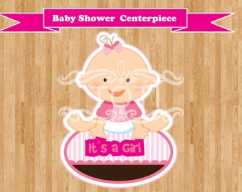 Baby Shower (girl) | Centerpiece  [DIGITAL FILE ONLY]