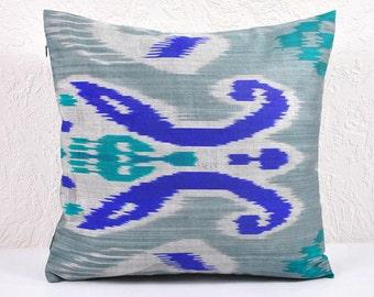 Ikat Pillow, Hand Woven Ikat Pillow Cover  spi475, Ikat throw pillows, Designer pillows, Ikat Pillow, Decorative pillows, Accent pillows