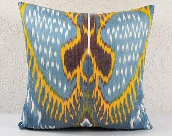 Sale! Angel Wings, Ikat Pillow, Hand Woven Ikat Pillow Cover  A541-15, Ikat throw, Designer pillows, Decorative pillows, Accent pillows